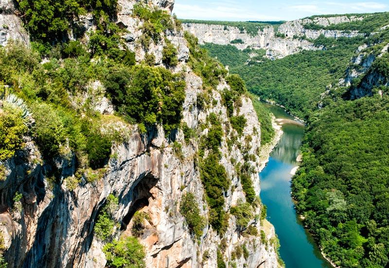 Géologie des Gorges de l'Ardèche