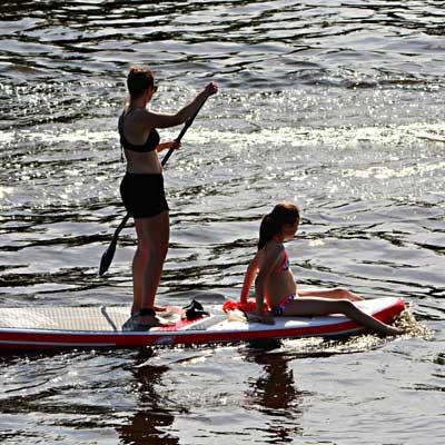 paddle sur la rivière ardèche