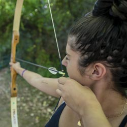 activité tir à l'arc pendant les vacances d'été