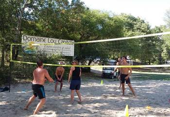 Terrain de beach-volley du Domaine Lou Capitelle