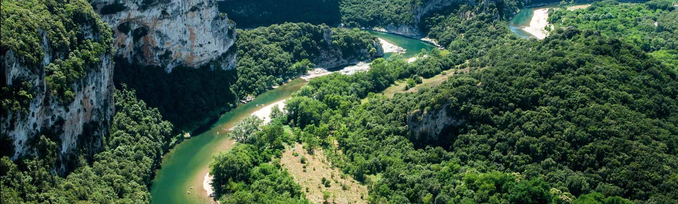 Les Gorges de l'Ardèche vue d'en haut